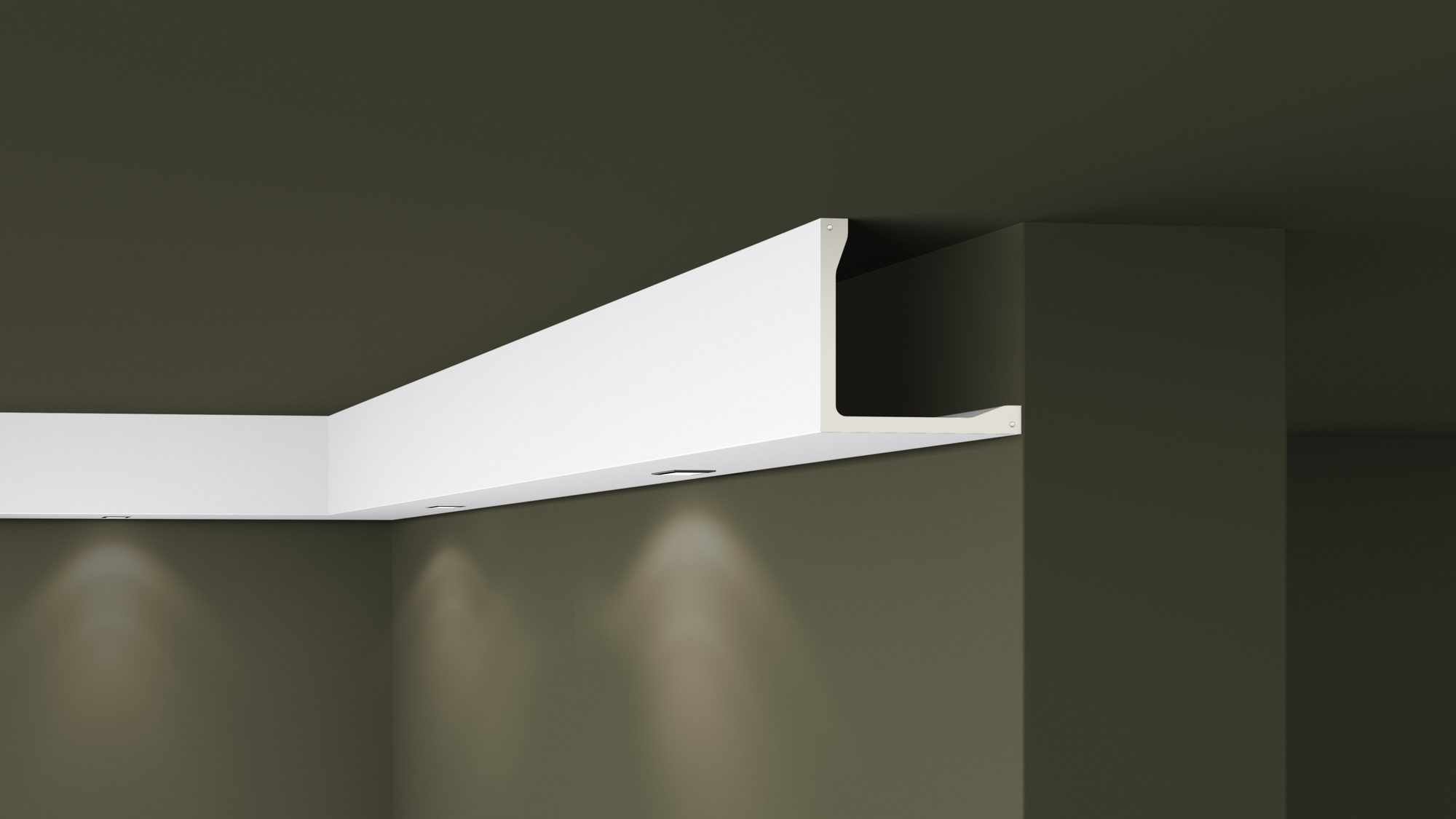 L5 Plastic Lightweight  Cornice Coving Indirect Lighting System - 2m